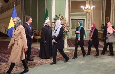 Swedish feministic governmental delegation visits Iran to show they obey Mullahs commands