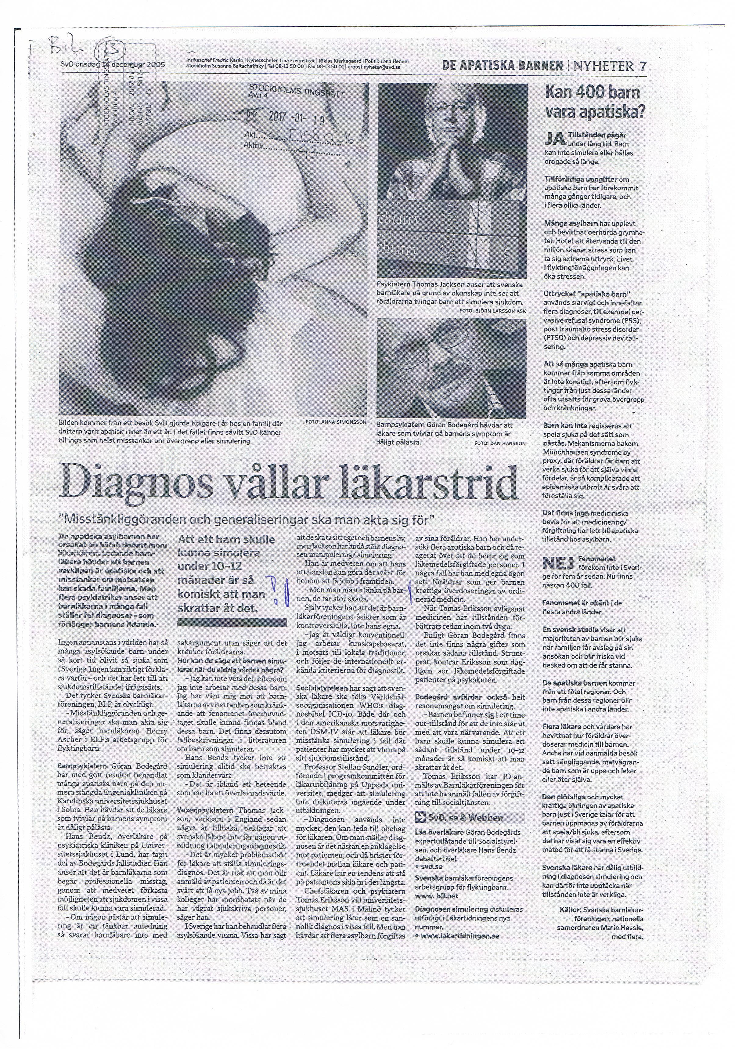 SvD 14 dec 2005